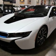 Electrified exotic, 2014 BMW i8 hybrid sports car in new condition