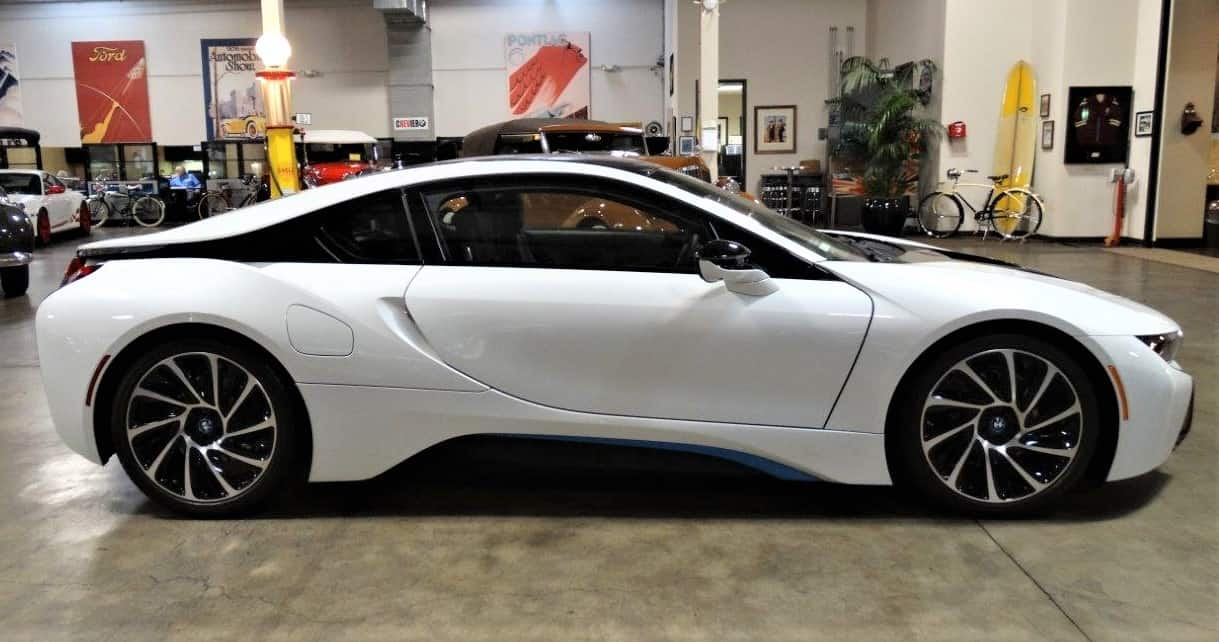 electrified exotic  2014 bmw i8 hybrid sports car in new condition