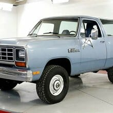 Low-mileage 1984 Dodge Ramcharger 4X4 appears to be an original survivor