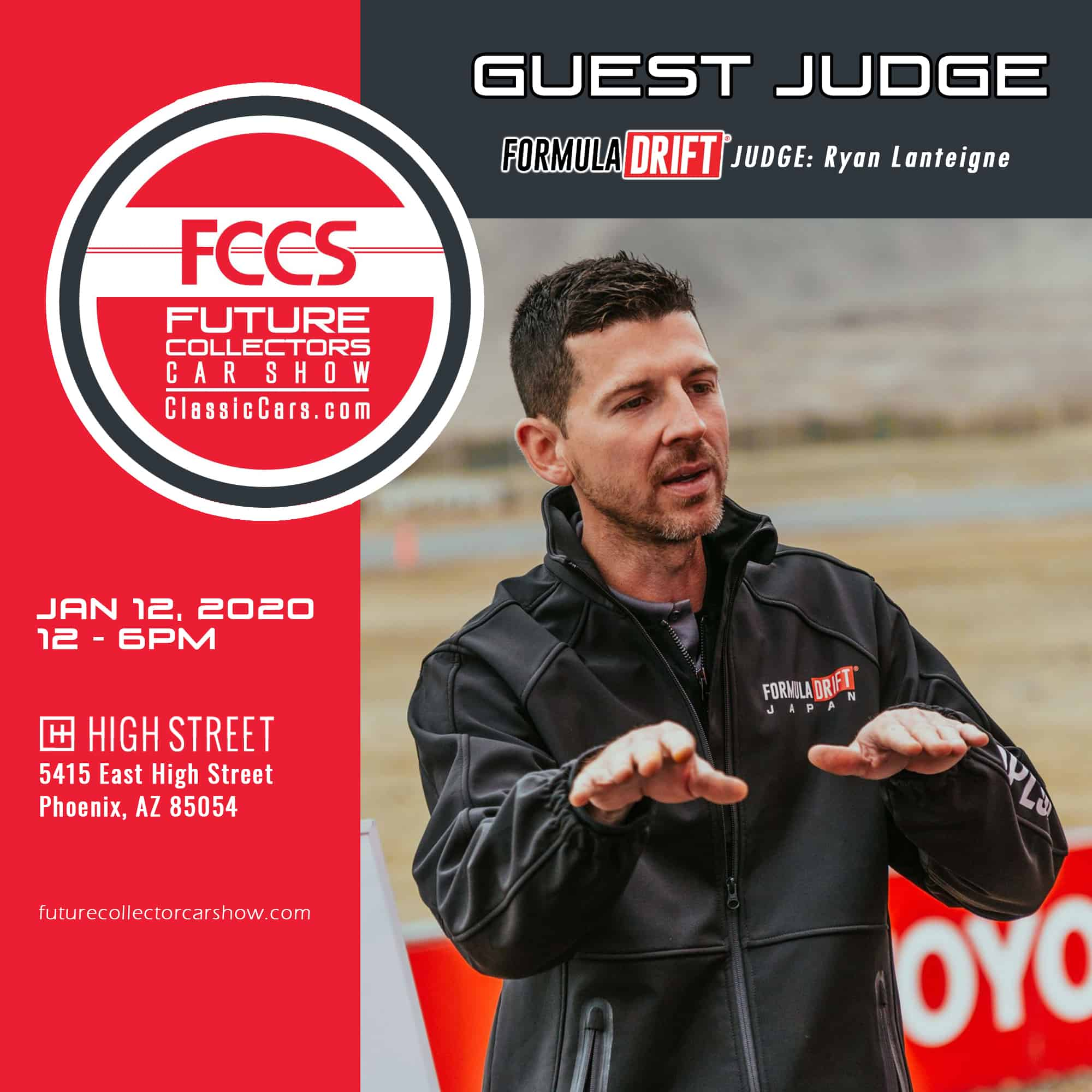 Ryan Lanteigne guest judge Formula Drift