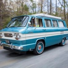 Classic Corvair camper van ready for road trippin'
