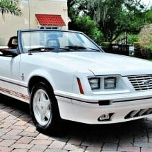 20th anniversary 1984 Mustang Shelby GT350 convertible