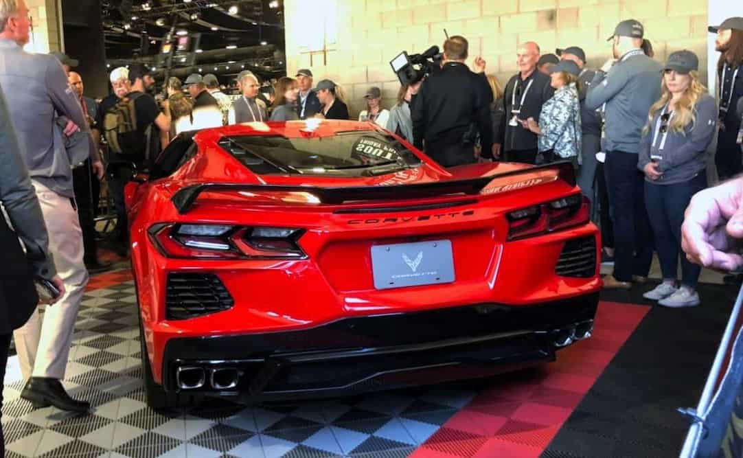 2020 Chevrolet Corvette C8 VIN 001 auctioned at Barrett-Jackson