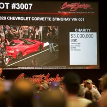 2020 Corvette C8 VIN 001 fetches $3,000,000 at Barrett-Jackson