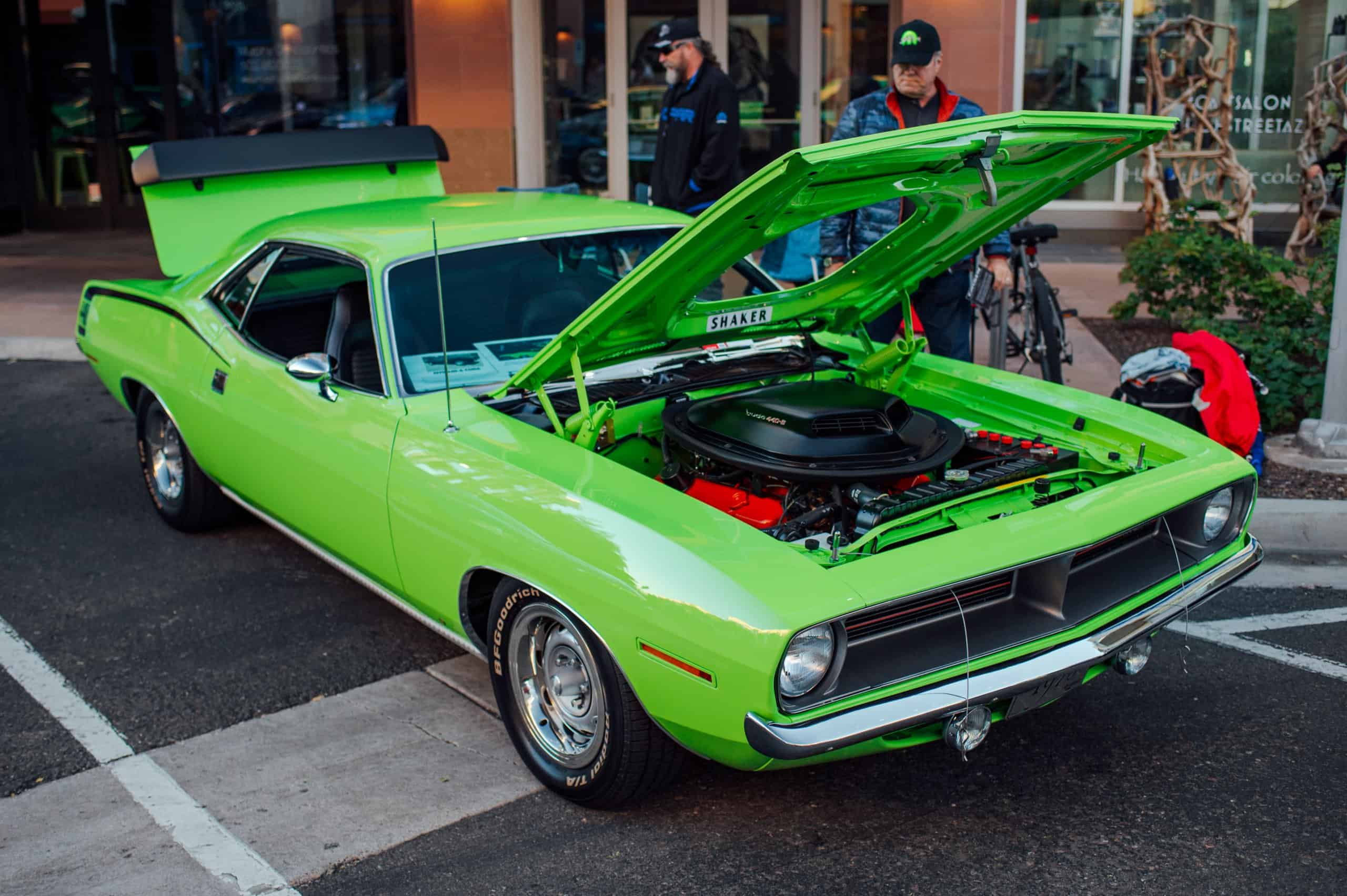 Theril Lund 1970 Plymouth 'Cuda at the Future Collector Car Show