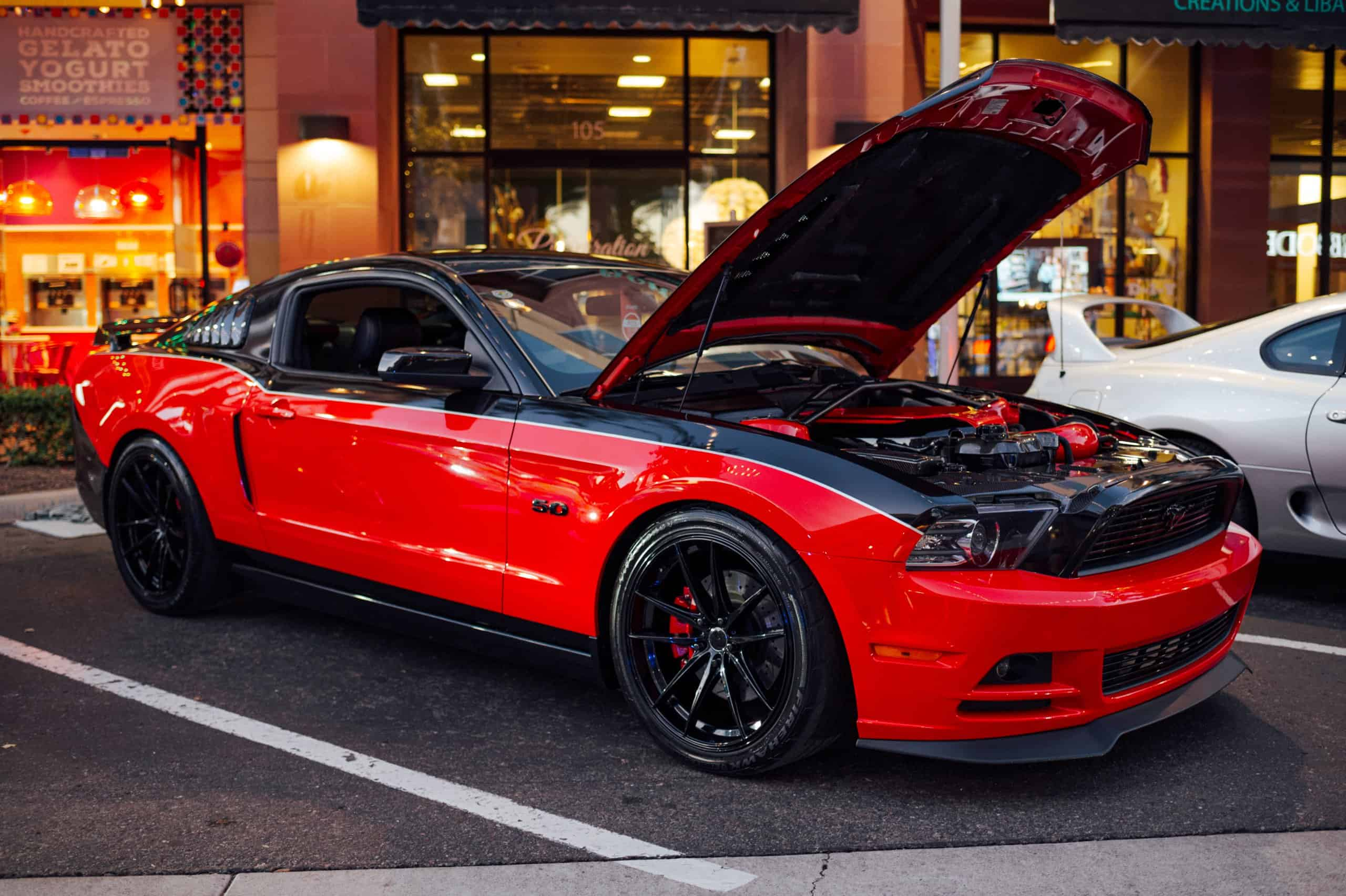 Krisztina Athanasakis 2014 Ford Mustang GT at the 5th annual Future Collector Car Show