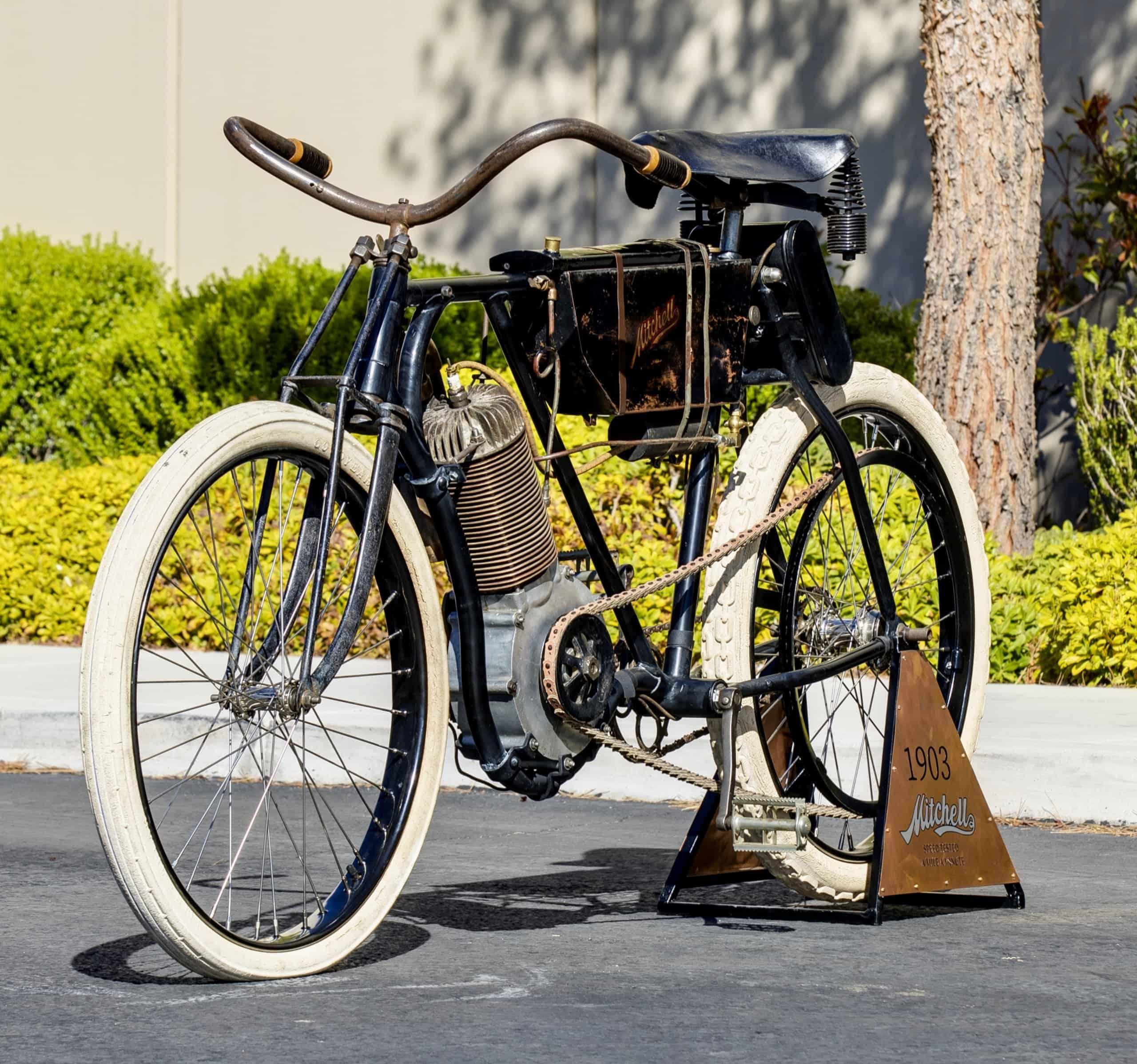 Mecum motorcycles, Rare 1903 Mitchell 'Mile-a-Minute' motor bike on Mecum's Vegas docket, ClassicCars.com Journal