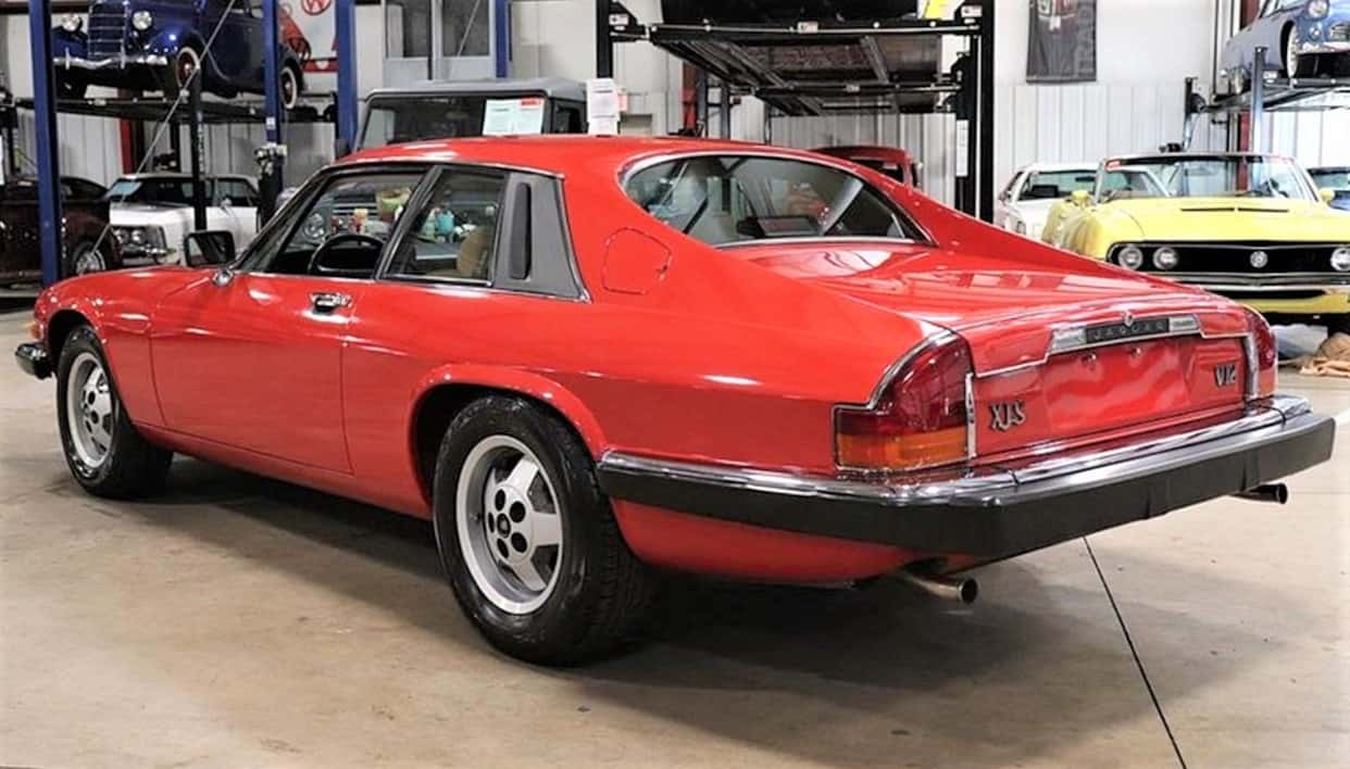 V12-powered 1986 Jaguar XJS coupe in Sebring Red and tan