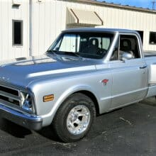 Usable resto-mod Chevy C10 pickup truck with custom upgrades