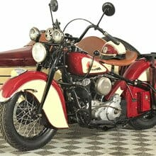 'Labor of love' 1947 Indian Chief motorcycle with factory sidecar