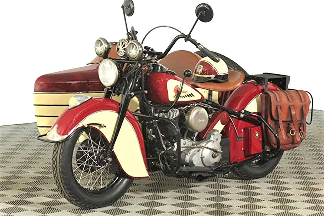 Labor Of Love 1947 Indian Chief Motorcycle With Factory Sidecar