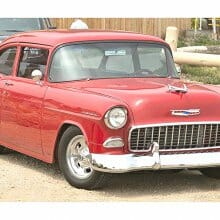 Plain but not simple, 1955 Chevy 150 business coupe resto-mod