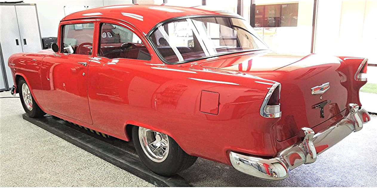 Plain But Not Simple  1955 Chevy 150 Business Coupe Resto