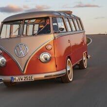 Volkswagen unveils electric-powered 1966 van