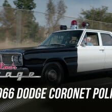 Jay Leno goes on patrol in a 1966 Dodge Coronet patrol car