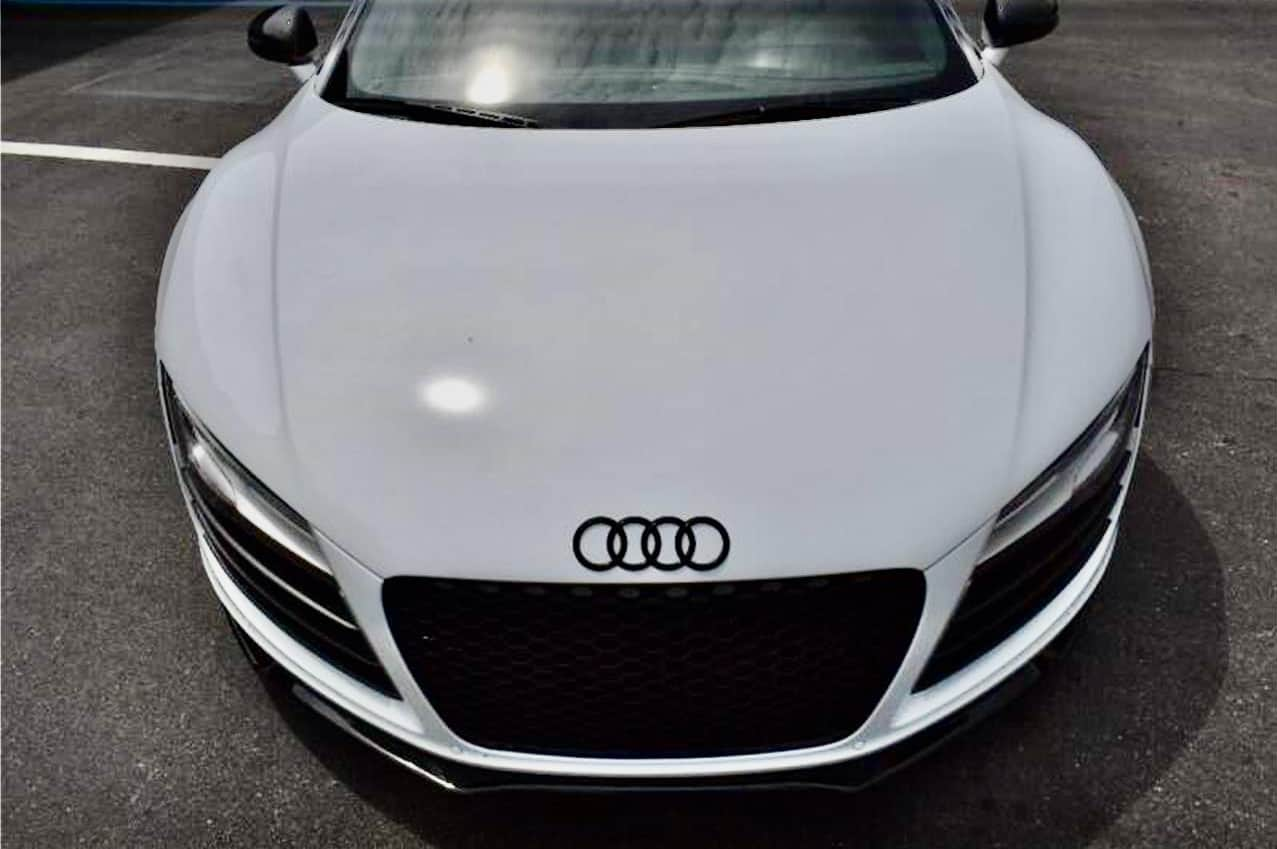 The nose of the Audi R8