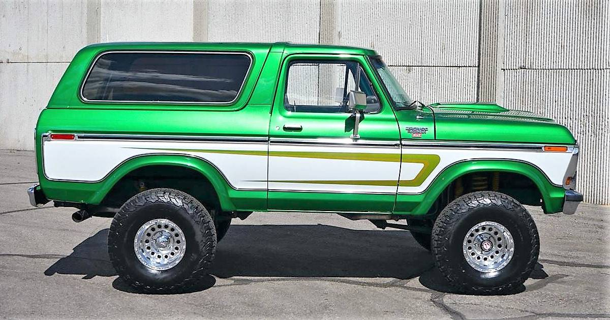 Pick Of The Day 1978 Ford Bronco Custom Green Machine