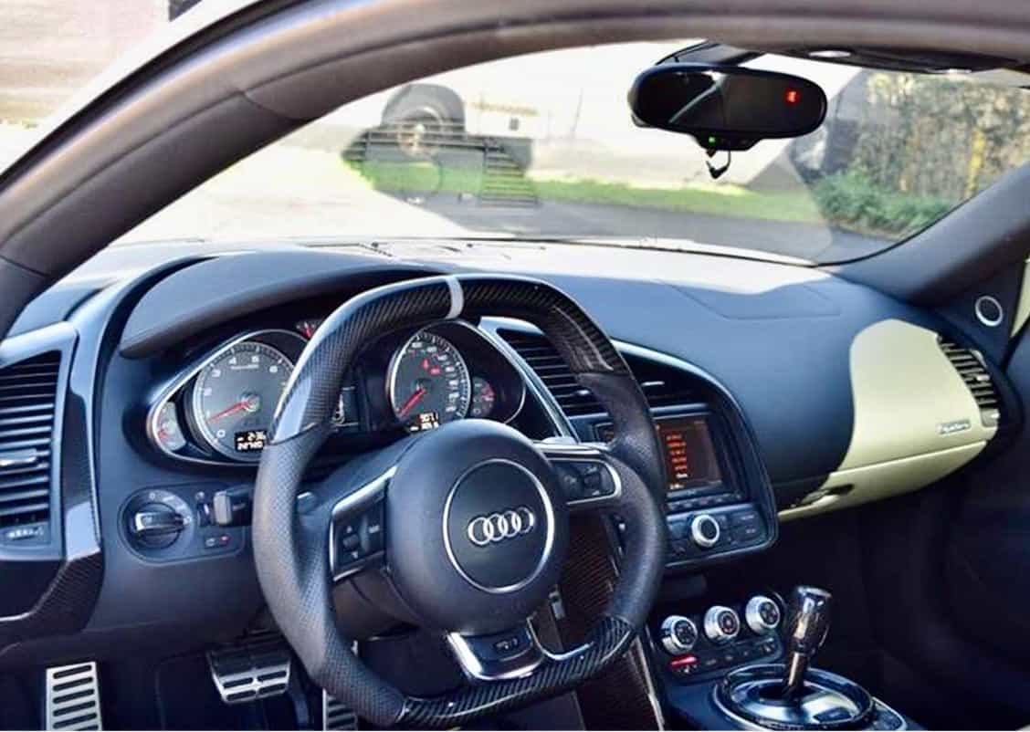 Beautiful and comfortable interior of the Audi R8