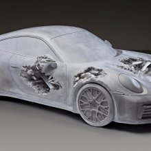 'Eroded Porsche' unveils in Hong Kong
