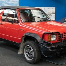 Ever seen this Golf convertible with all-wheel drive?