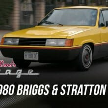 1980 Briggs & Stratton hybrid with 6 wheels visits Jay Leno's Garage
