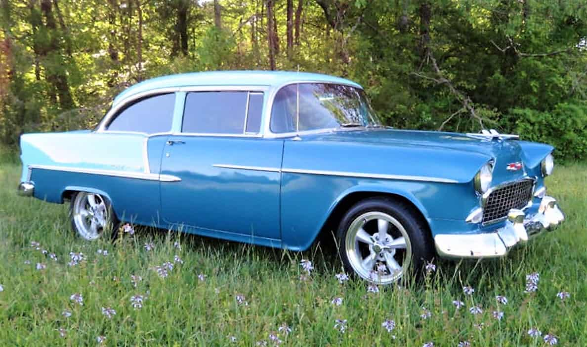 Pick Of The Day 1955 Chevy Bel Air Resto Mod In Blue