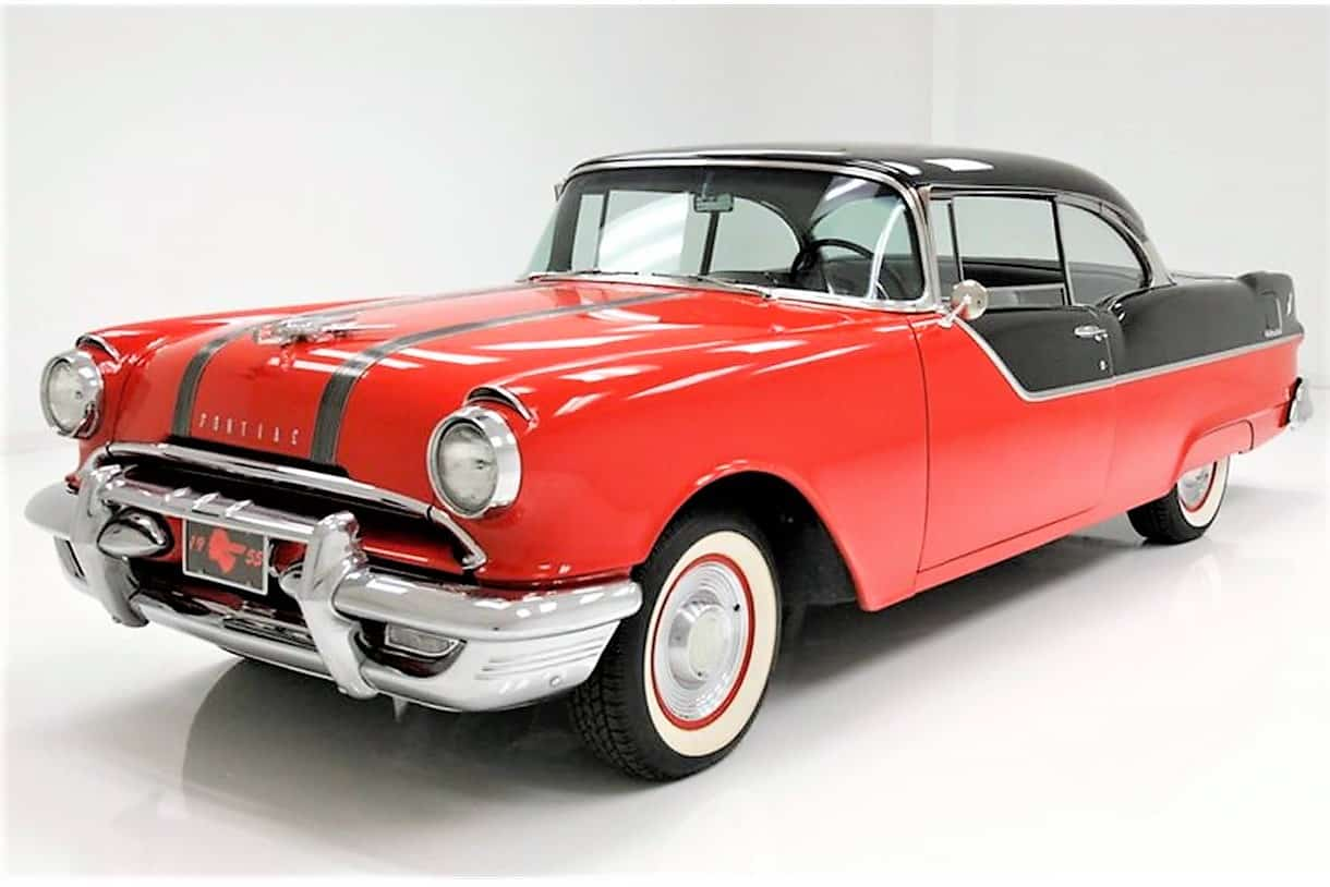 Pick Of The Day 1955 Pontiac Chieftain Hardtop In Red And Black
