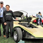 Bob Golfen with custom car builder Gene Winfield at the Pebble Beach concours in 2017