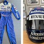 Damon Hill Renault Racing Suit and Helmet