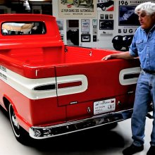 Jay Leno hosts his 1961 Chevrolet Corvair ramp-side pickup