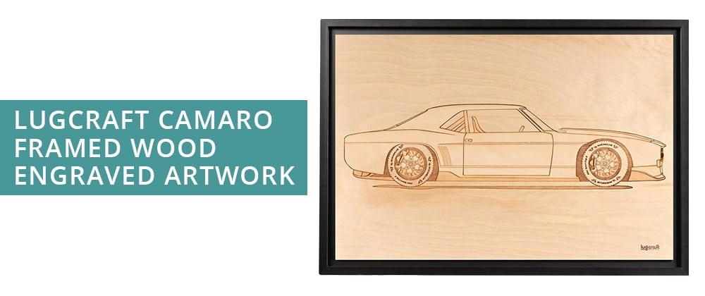 Lugcraft Camaro framed wood engraved artwork for Father's Day