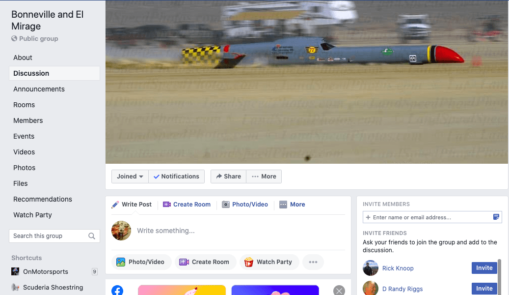 Bonneville Facebook