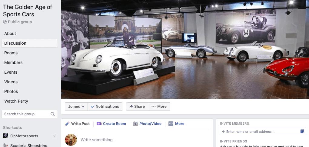 Sports Cars Facebook