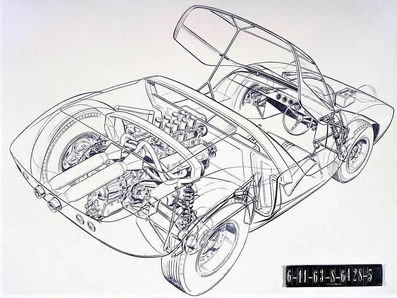 Ford Unearths Early Gt40 Design Sketches Clay Model