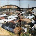 junkyard scene