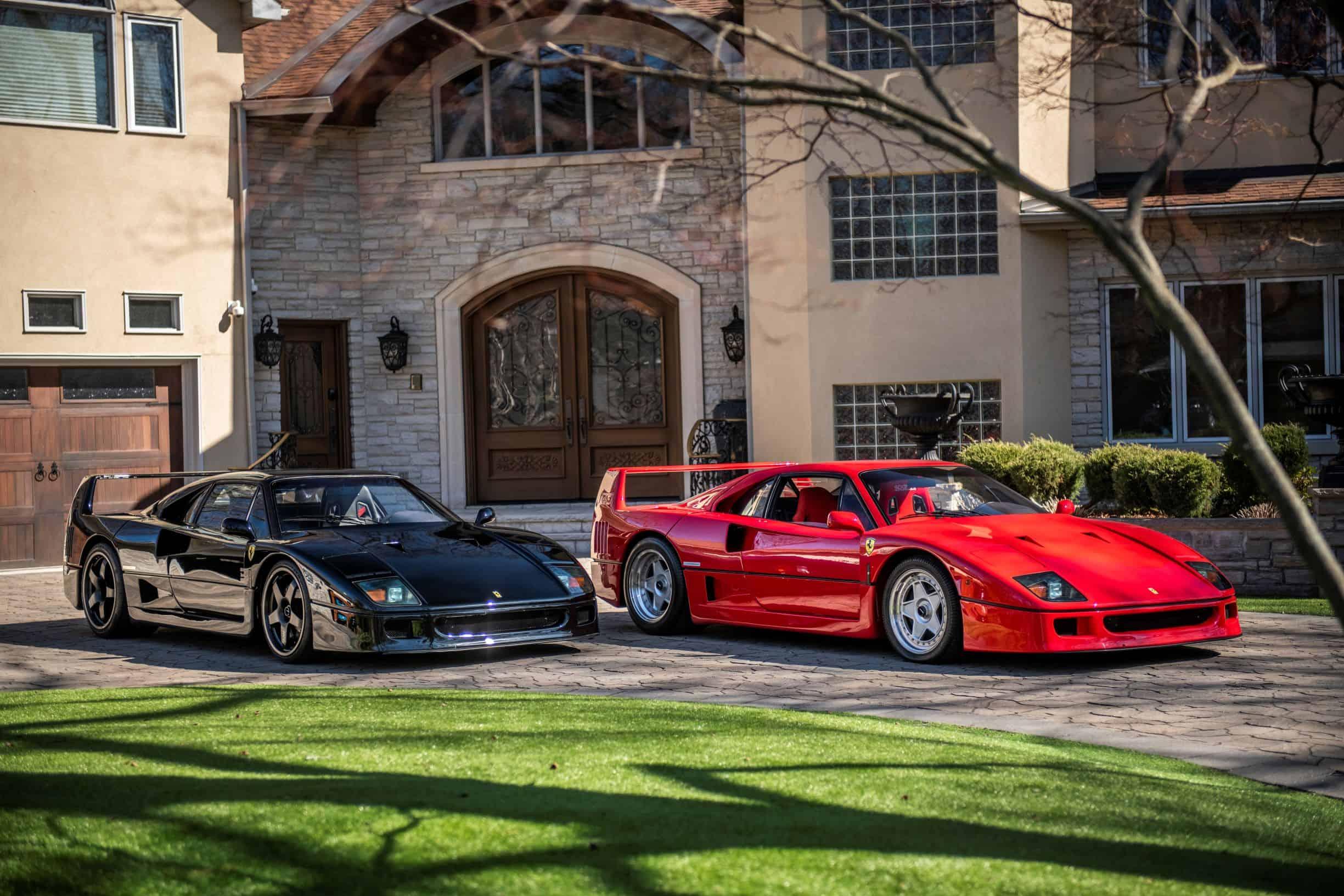 A pair of Ferrari F40s photographed Lucas Scarfone