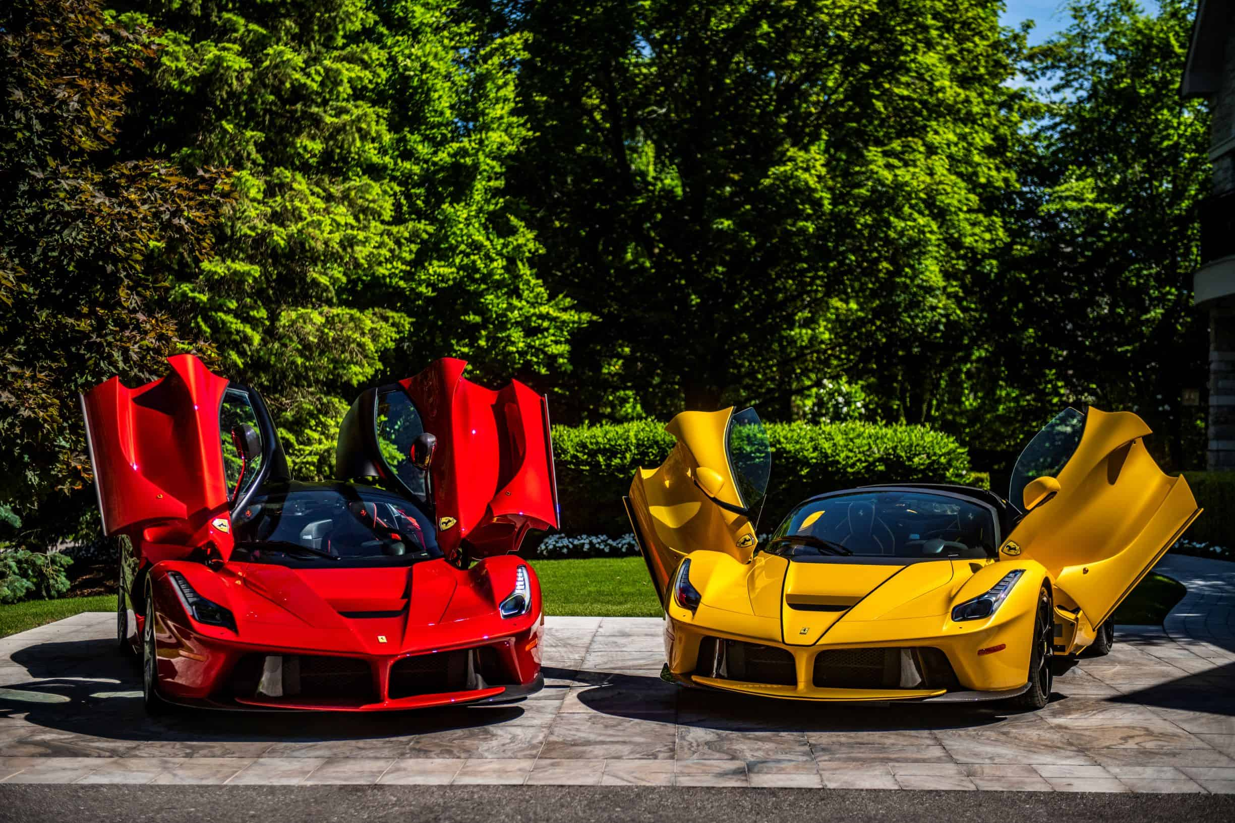 A pair of La Ferrari photographed by Scarfone