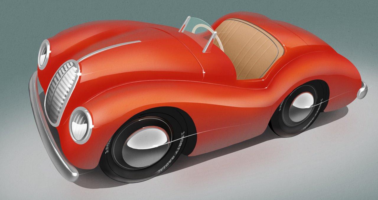 Pedal car, Artist Marjoram designs concepts for reborn J40 pedal cars, ClassicCars.com Journal