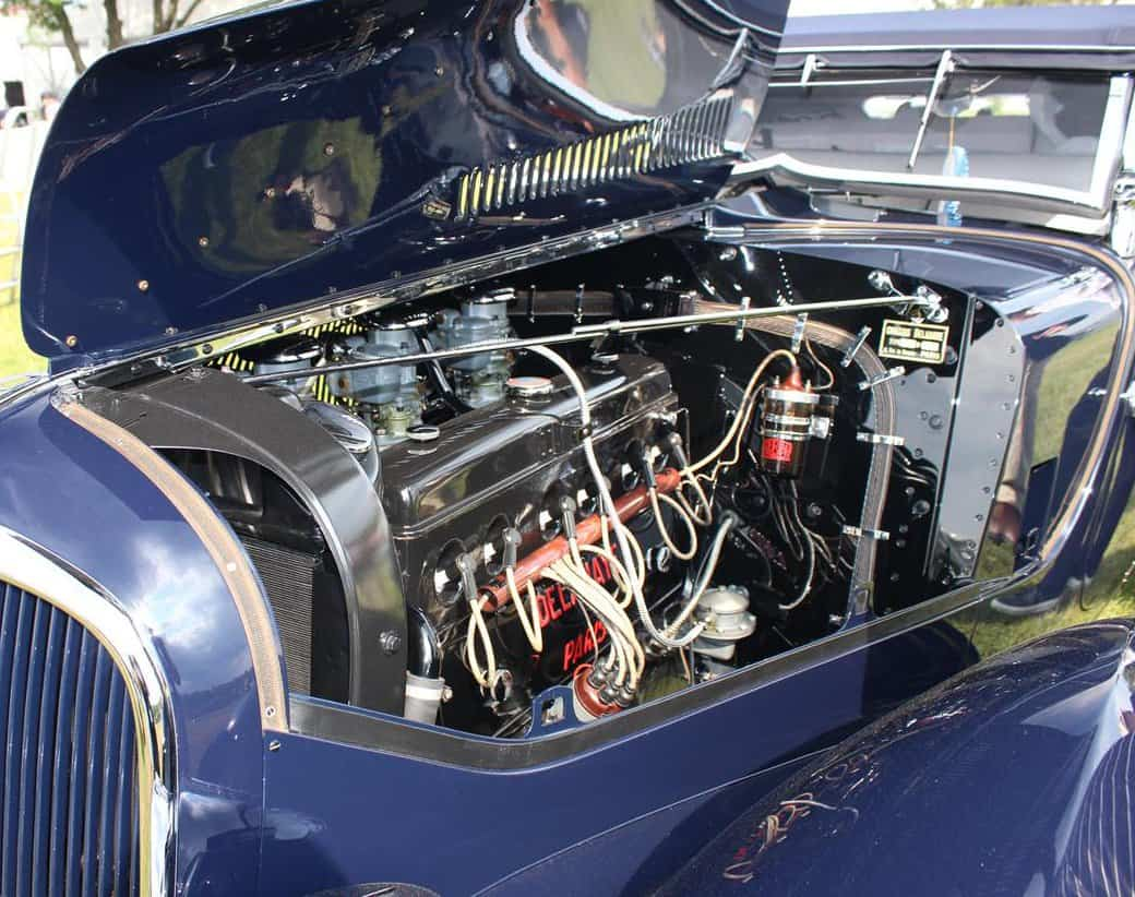 1936 Delahaye 135 Competition disappearing top convertible engine