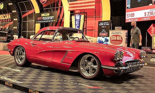 Custom 1962 Corvette was a top seller at the Mecum Auction.