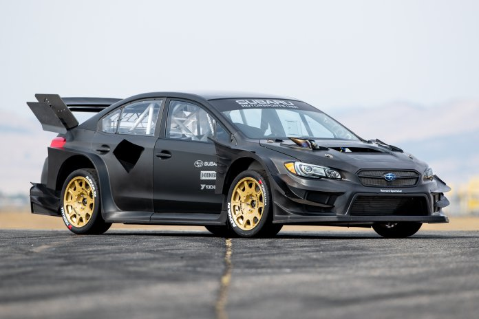 2020 Subaru Gymkhana WRX STI with custom-built tire destroyer set.