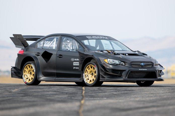 2020 Subaru Gymkhana WRX STI with custom-built tire destroyer set.