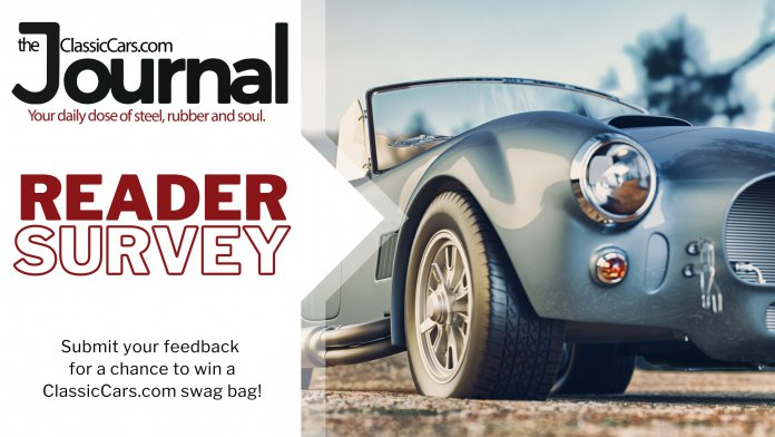 Submit your feedback survey for a chance to win a ClassicCars.com swag bag!