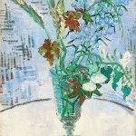 Vincent van Gogh painting, Fleurs dans un verre,