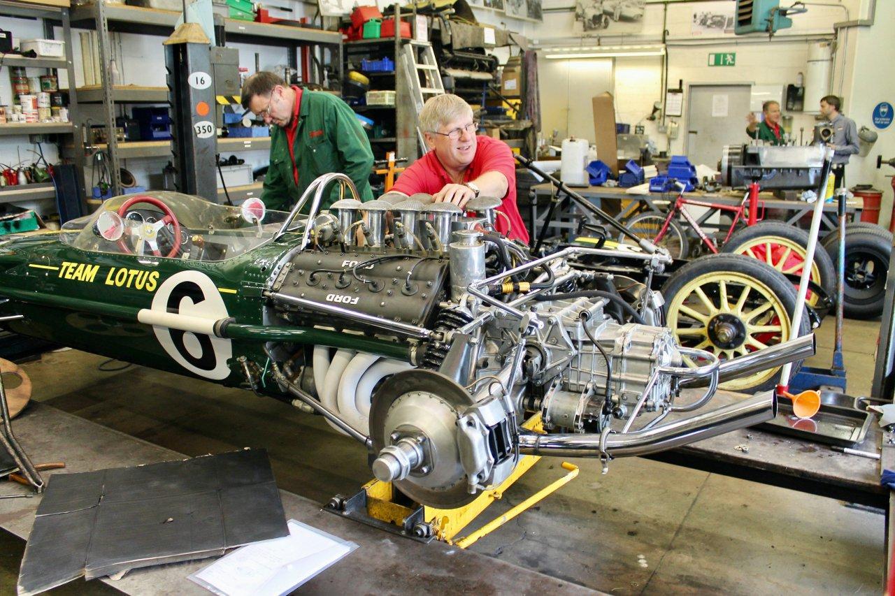 Vehicle workshop at the National Motor Museum at Beaulieu