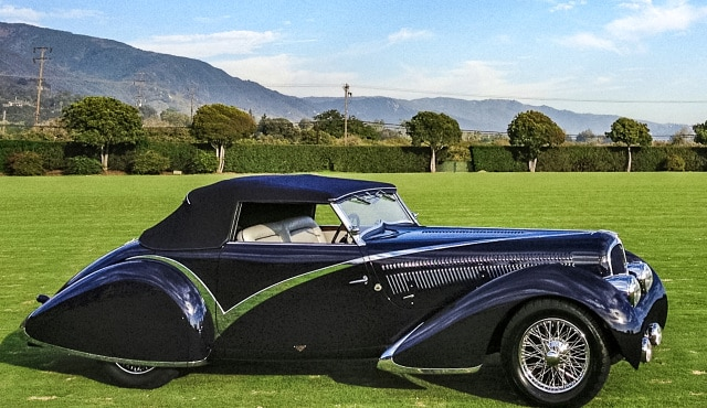 1936 Delahaye 135 Competition at Santa Barbara Concours Frist in Class