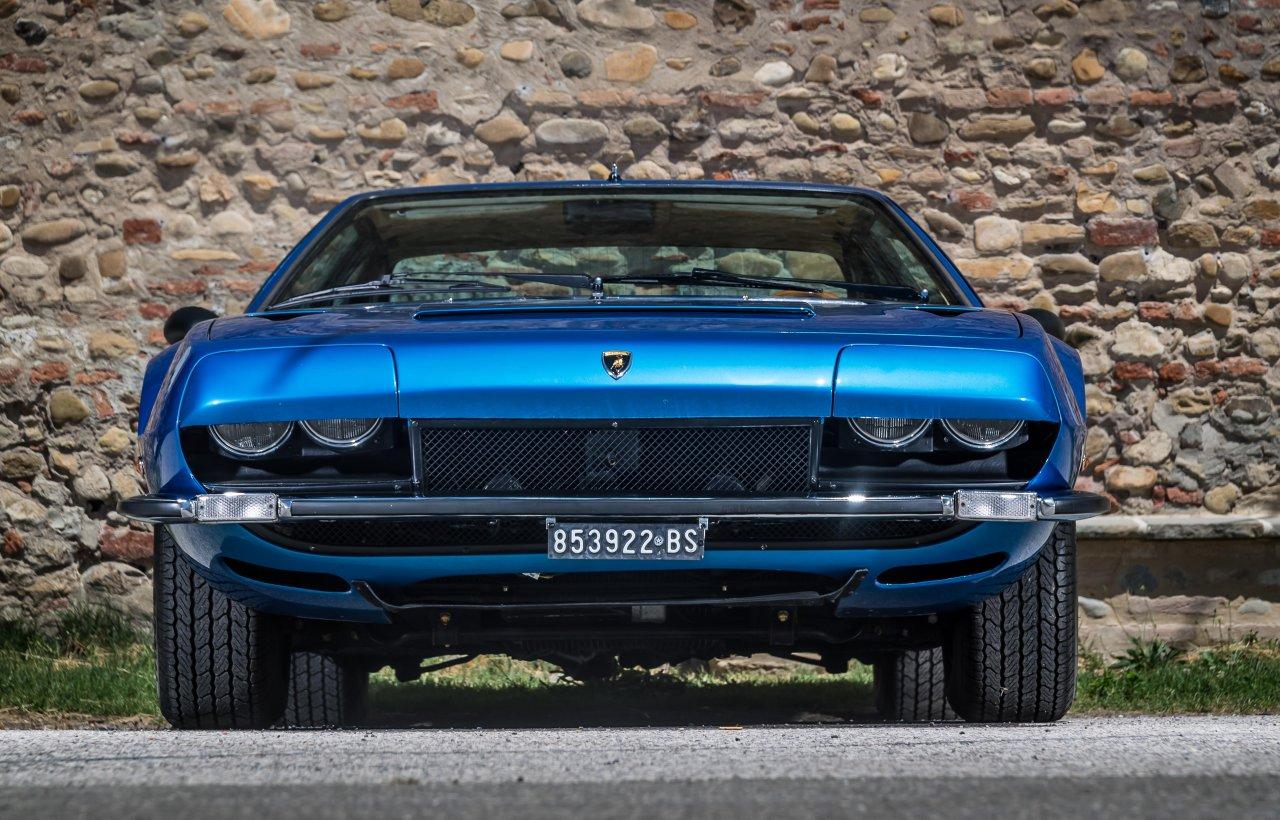 Blue Lamborghini Jarama