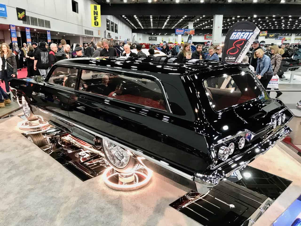 1963 Chevrolet 2-door station wagon on display