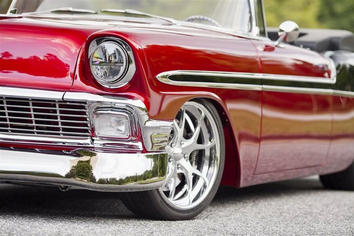 1956 Chevrolet Bel Air customized by System X Ceramic Protection and displayed online during SEMA360 | SEMA360 photos