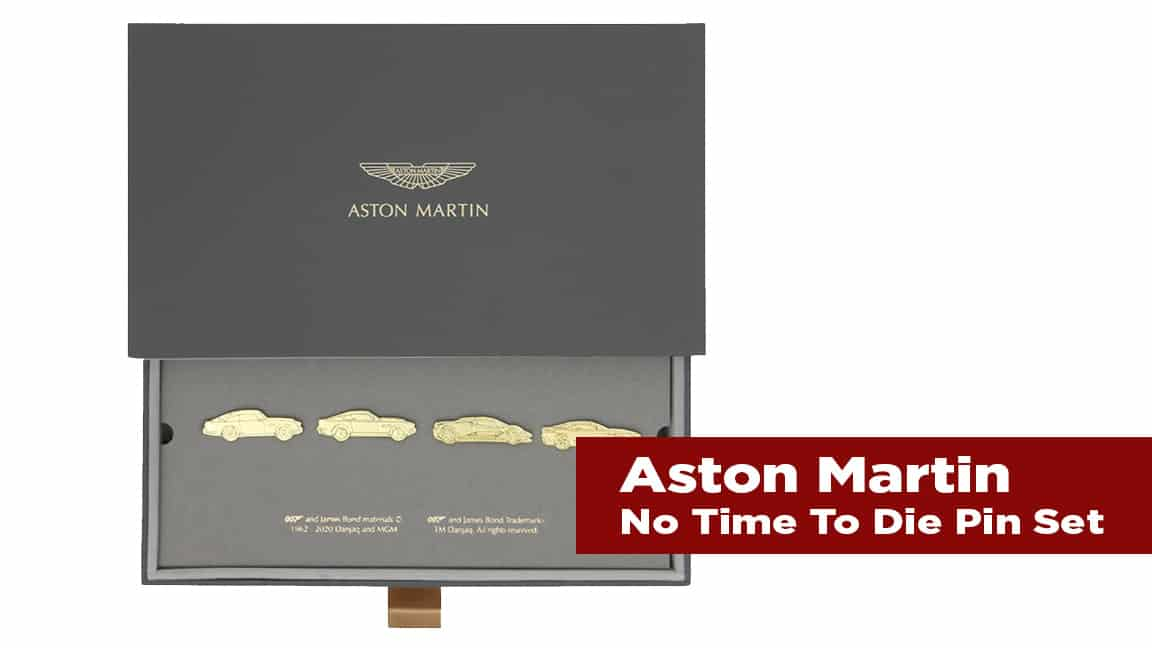 The Journal's holiday gift guide   Aston Martin No Time to Die Pin Set